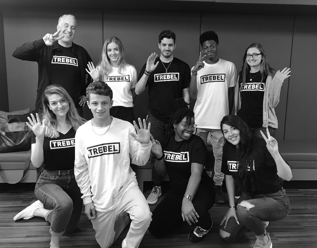 A picture of the TREBEL team