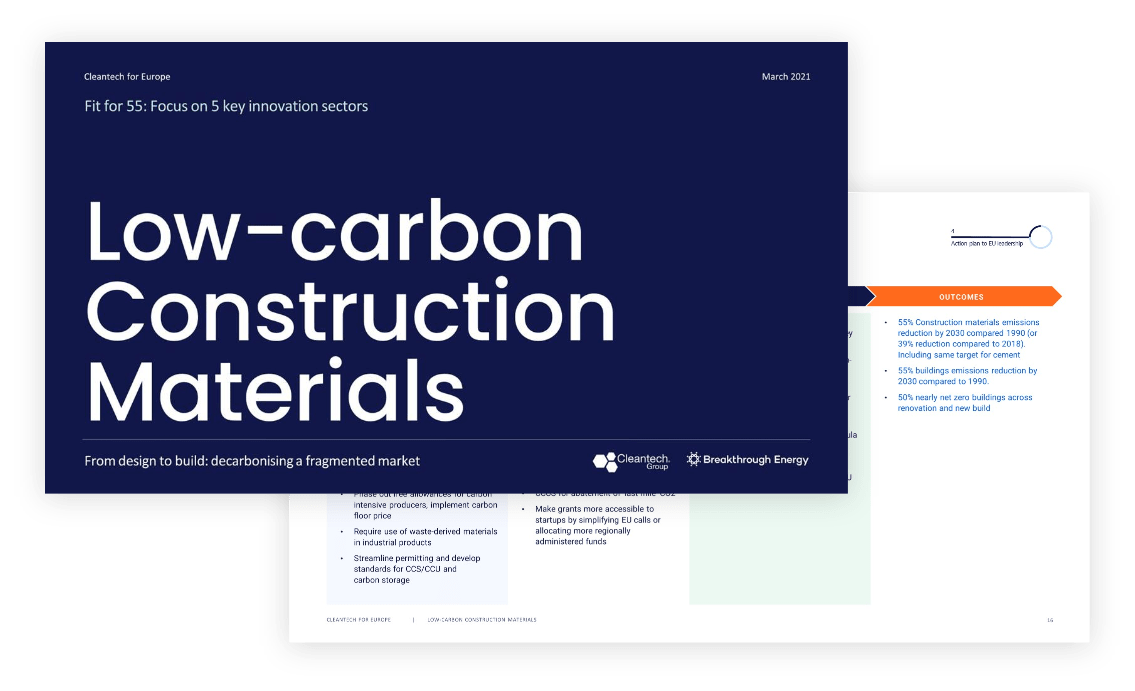 low carbon construction materials