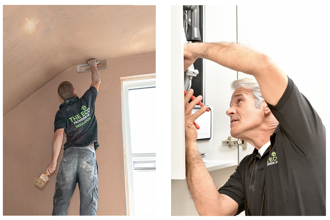 plastering and boiler fitting image