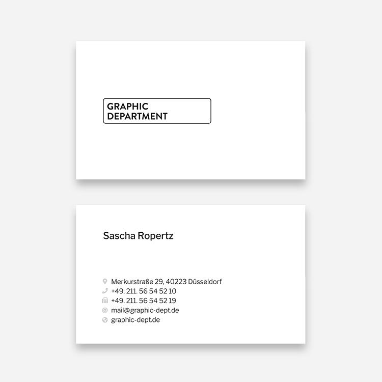 Visitenkarten Gestalten Und Drucken Lassen Düsseldorf