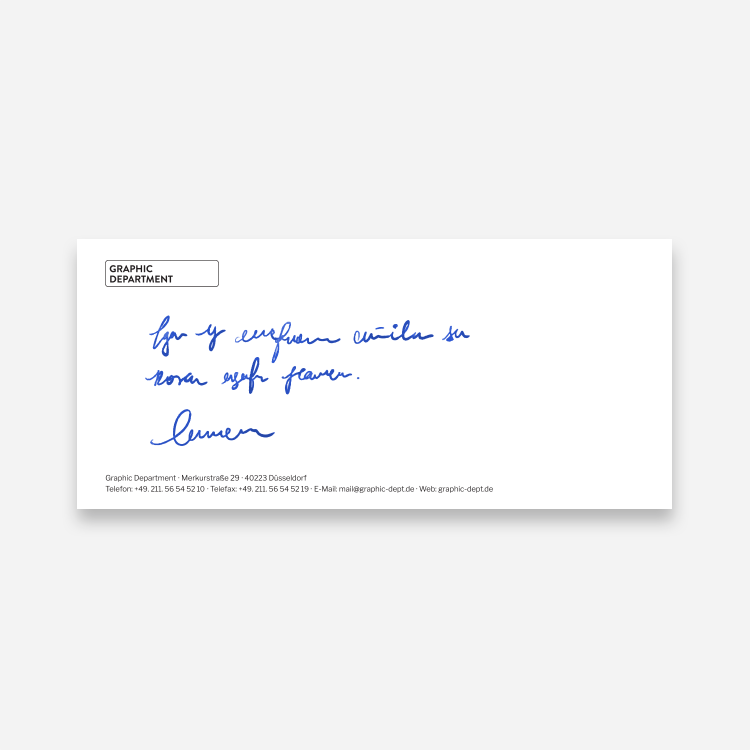 Compliment Card Beispiel