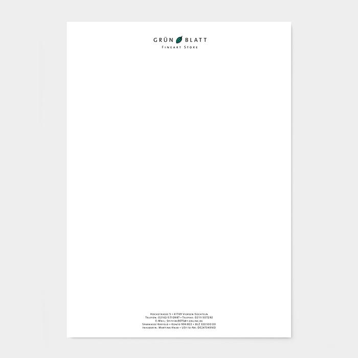Briefpapier Handelsunternehmen