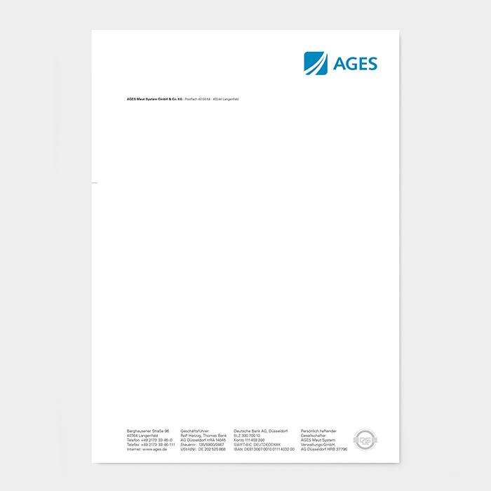 Briefpapier Unternehmen