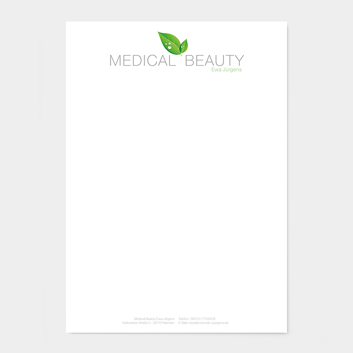 Briefpapier Kosmetikinstitut
