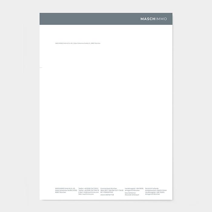 Briefpapier Immobilienmakler