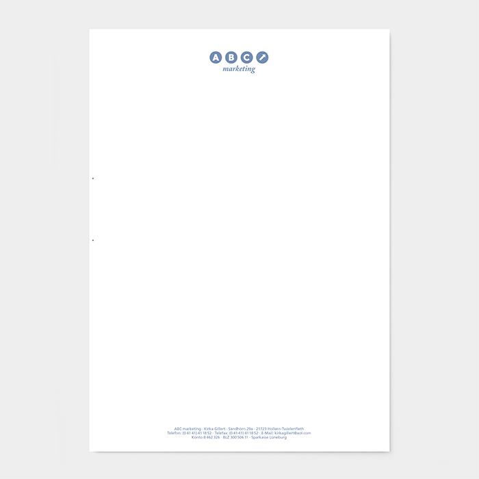 Briefpapier Marketing-Agentur