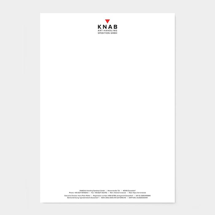 Briefpapier Kunstspedition