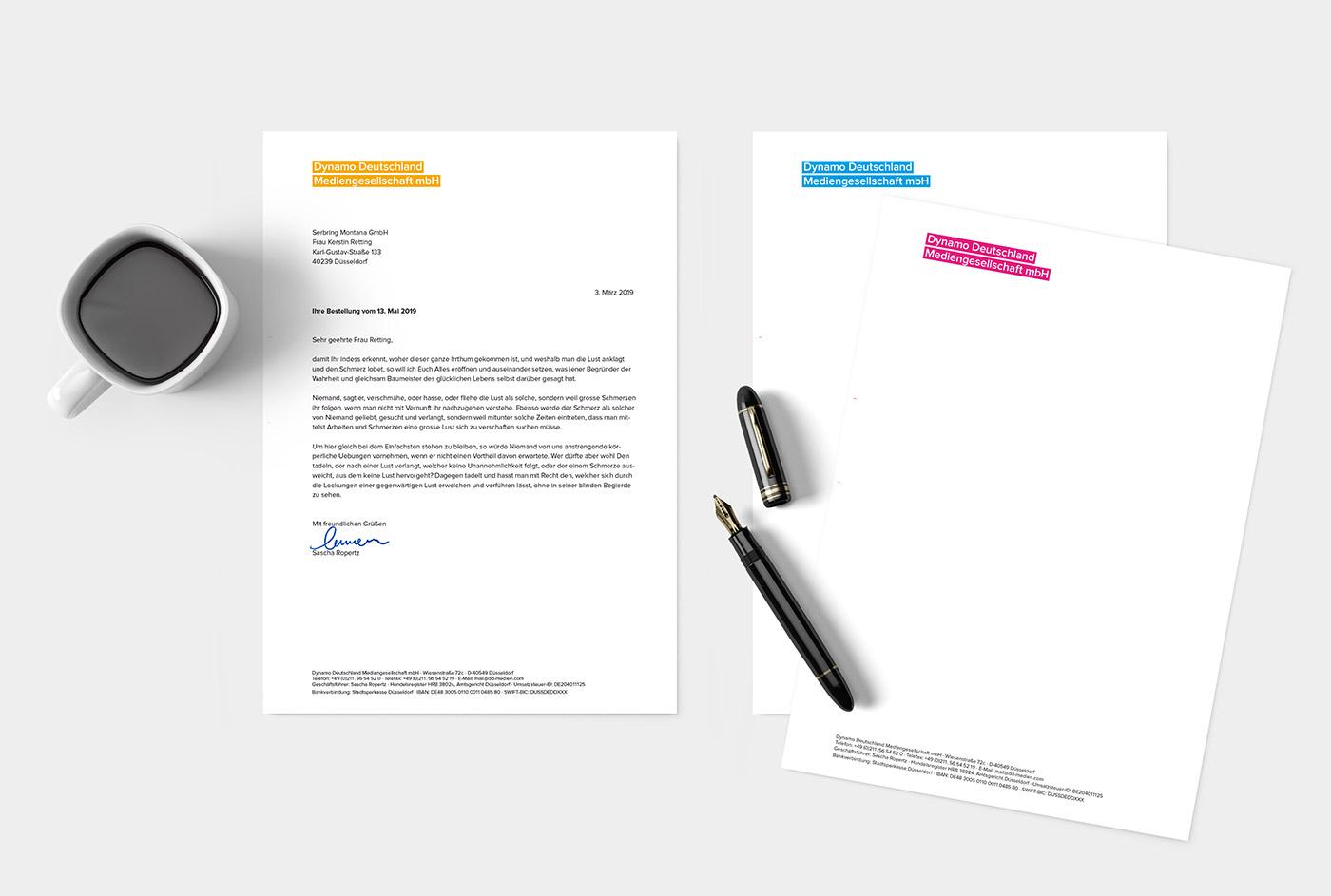 Briefpapier Design-Beispiele