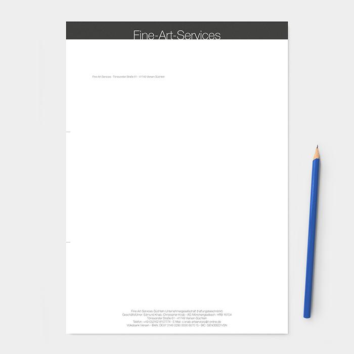 Briefpapier Kunsttransporte
