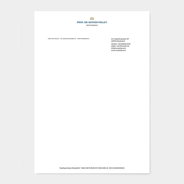 Briefpapier Rechtsanwalt