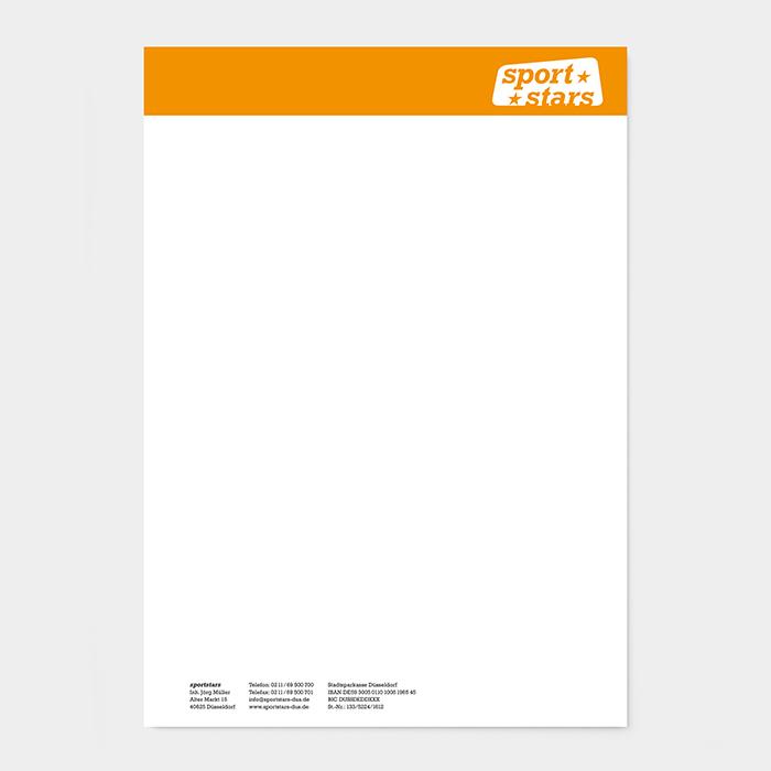 Briefpapier Sportgeschäft
