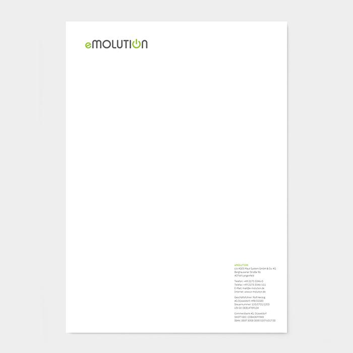 Briefpapier emolution