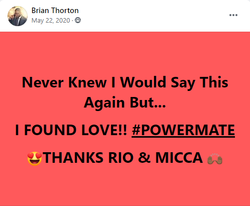 Brian's Testimonial of finding love
