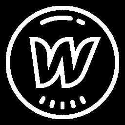 A W in a circle, like the webflow logo.