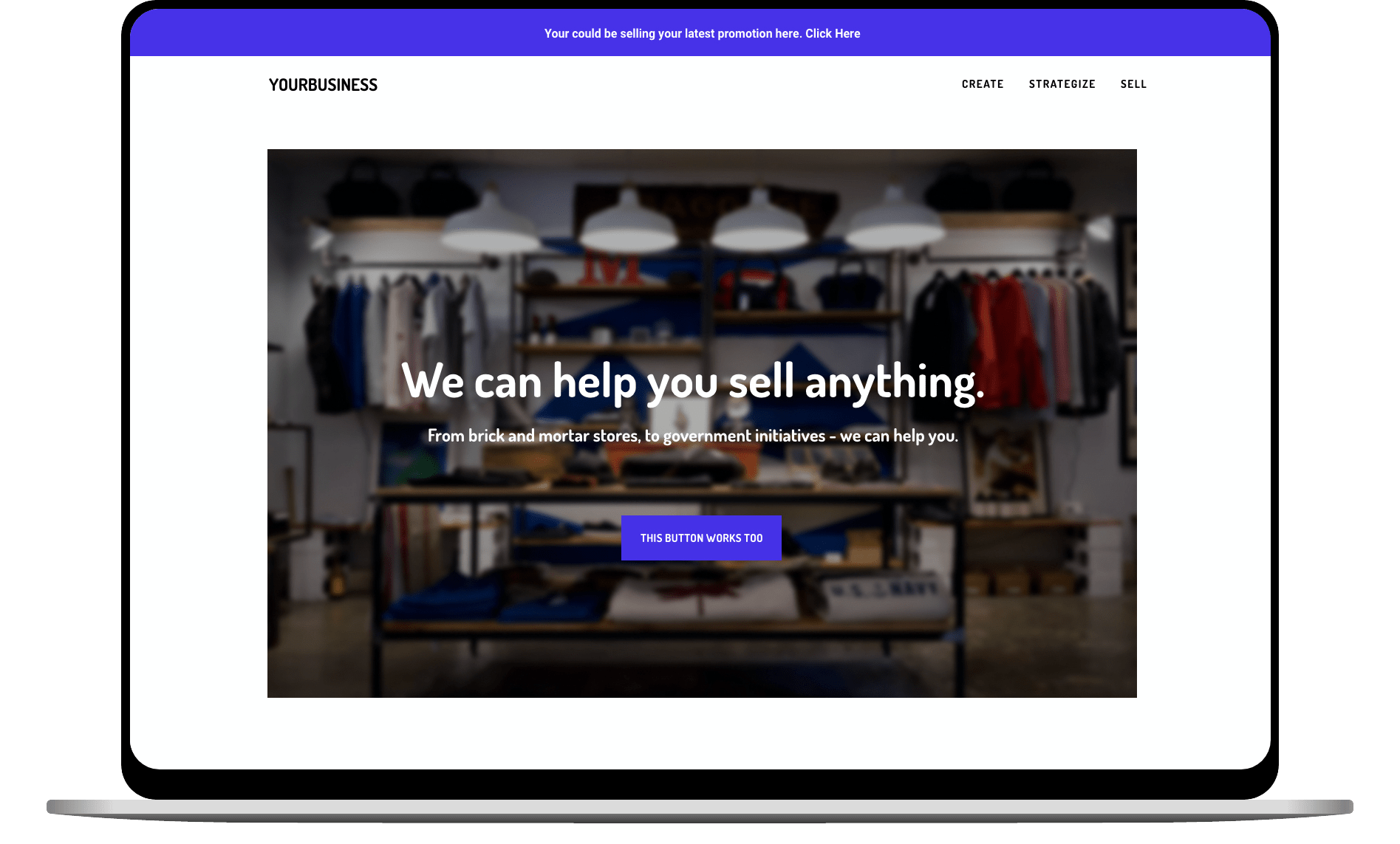 a sample website we can build for you