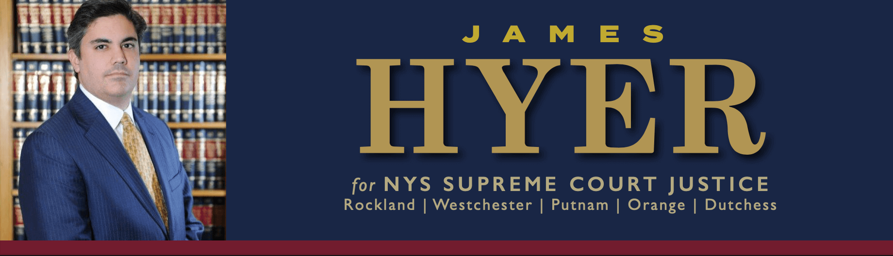 James Hyer for NYS Supreme Court Justice Large Logo Banner