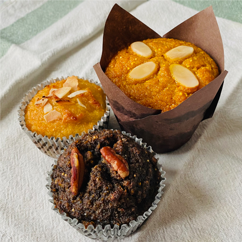 Delicious and healthy homemade muffins made with organic gluten-free ingredients, Our exotic selection of flavours offers sweet and savoury Panecitos to delight all tastes.