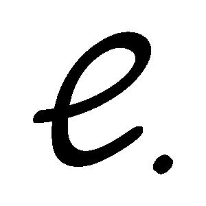 A handwritten e as my logo