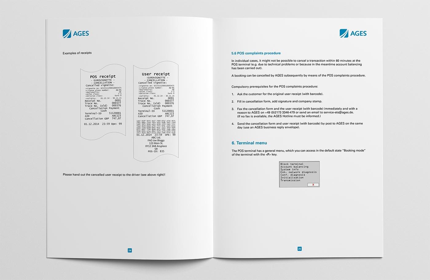 Bedienungsanleitung POS-Terminal Seiten 24/25