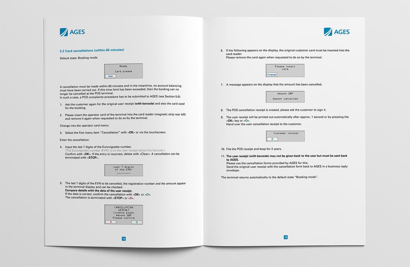 Bedienungsanleitung POS-Terminal Seiten 14/15