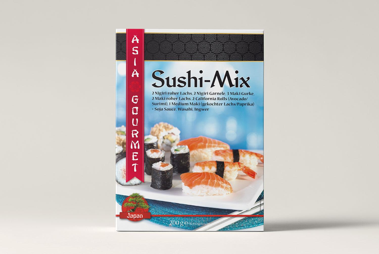 Verpackungsdesign Sushi Mix