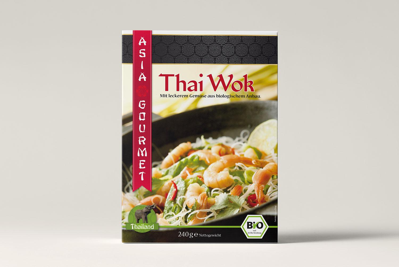 Verpackungsdesign Thai Wok
