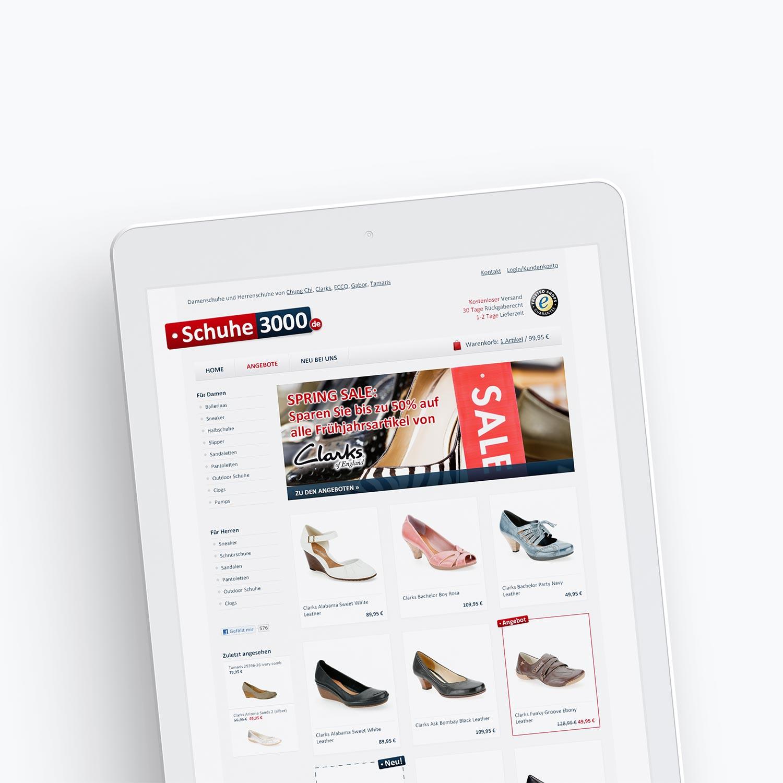 Screendesign Onlineshop