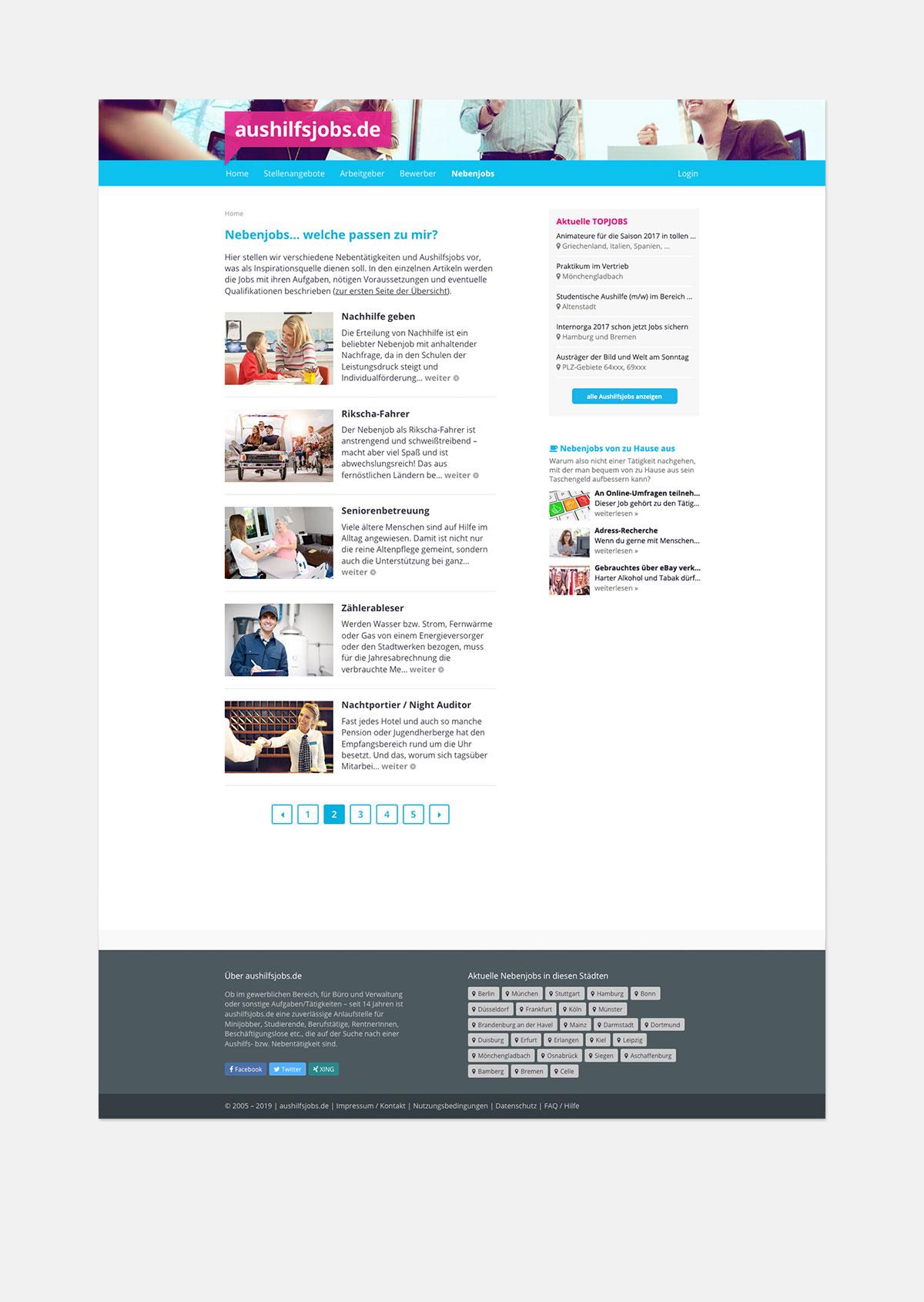 Stellenportal – redaktioneller Content