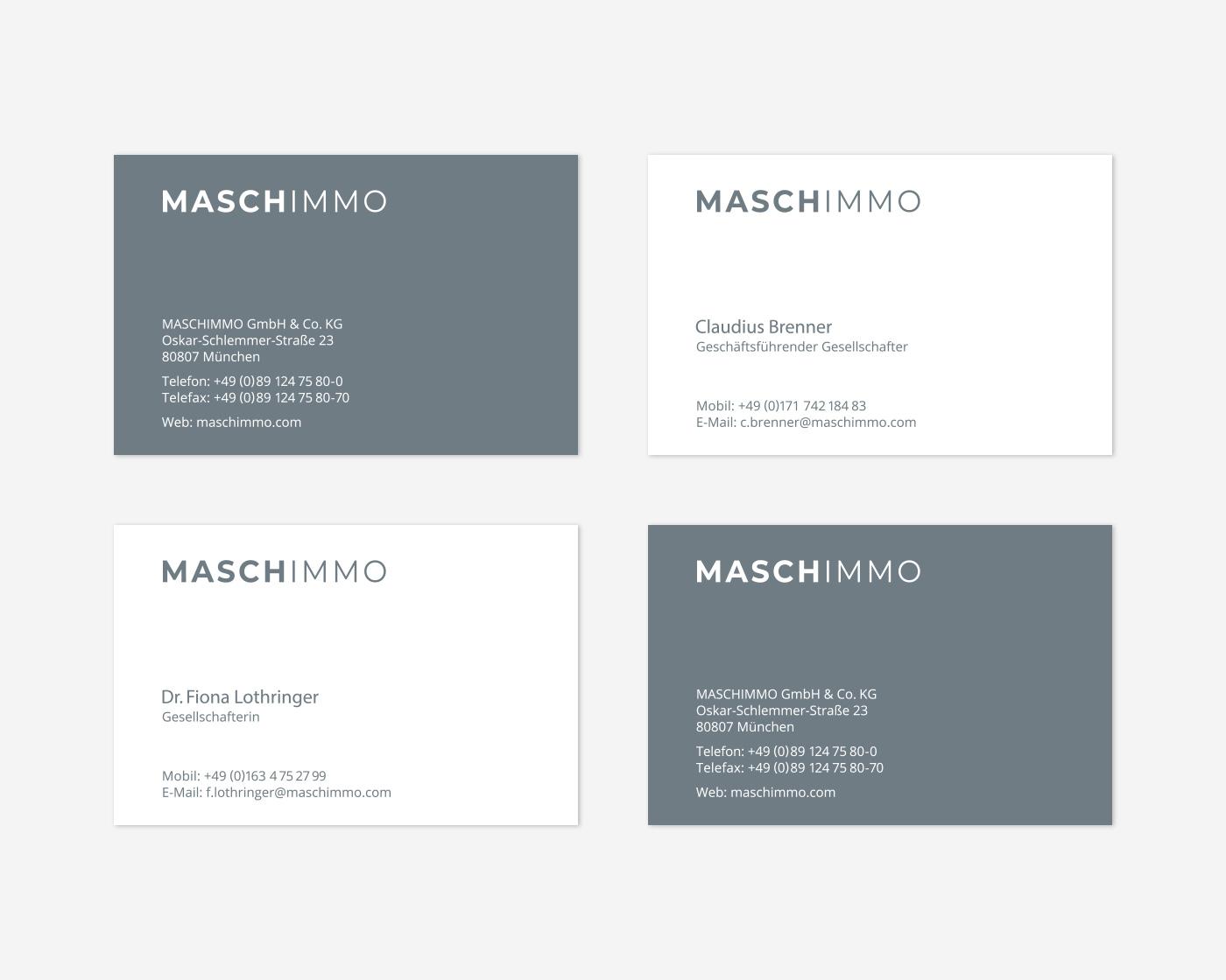 Geschäftspapiere Maschimmo