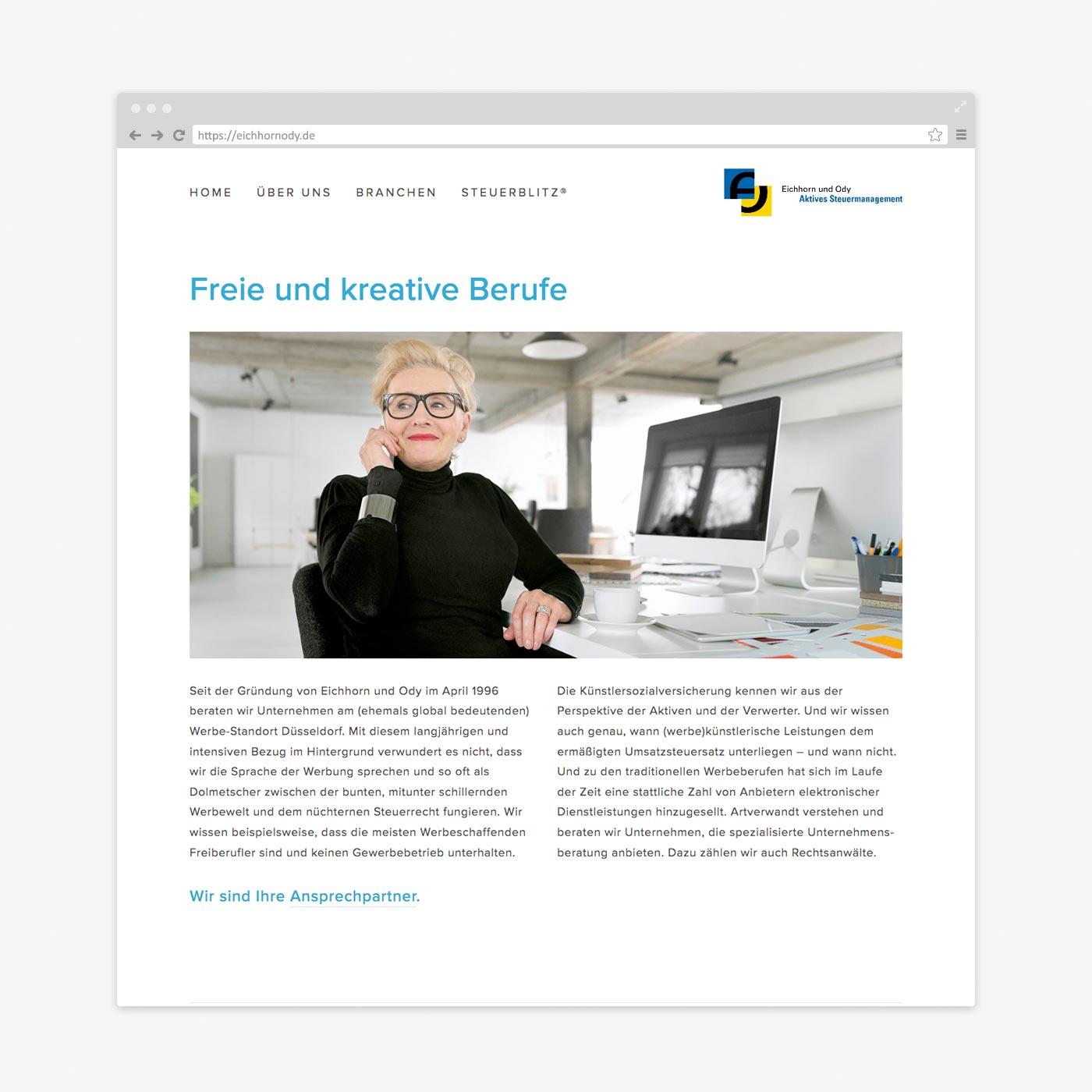 Website Steuerberater – Branchen