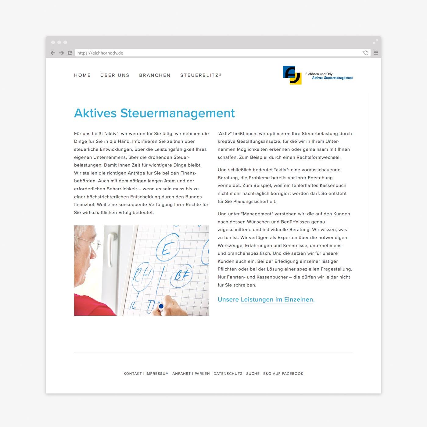 Website Steuerberater – Aktives Steuermanagement