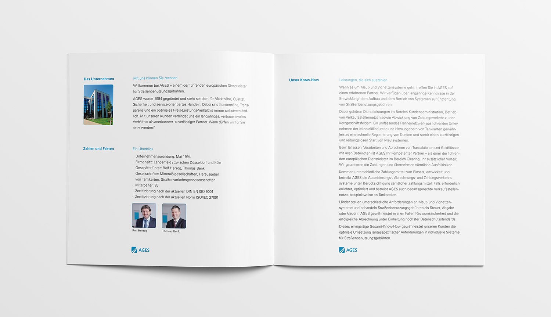 Design Image-Broschüre – Innenteil 1