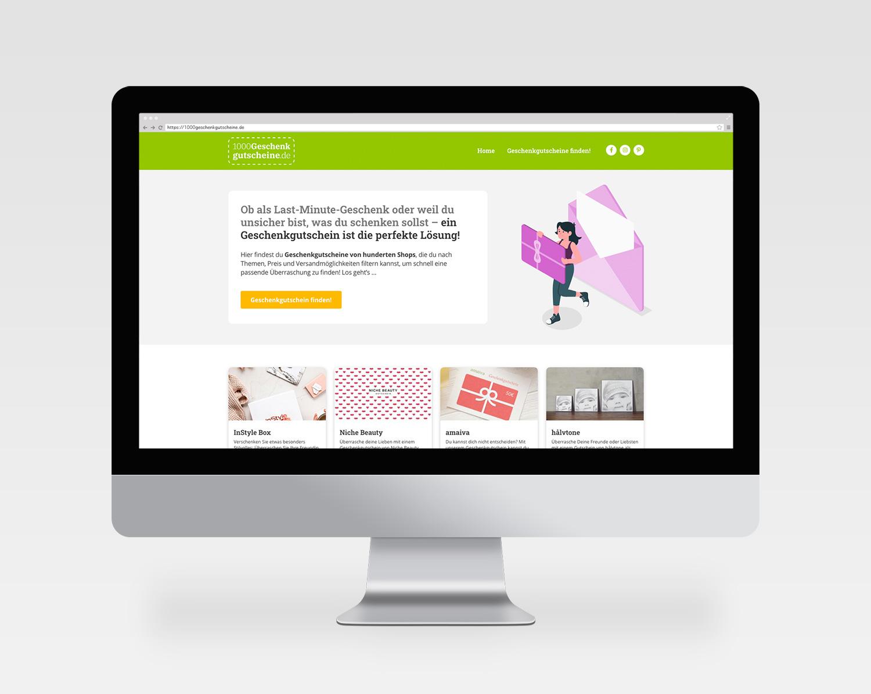 Webdesign 1000geschenkgutscheine.de