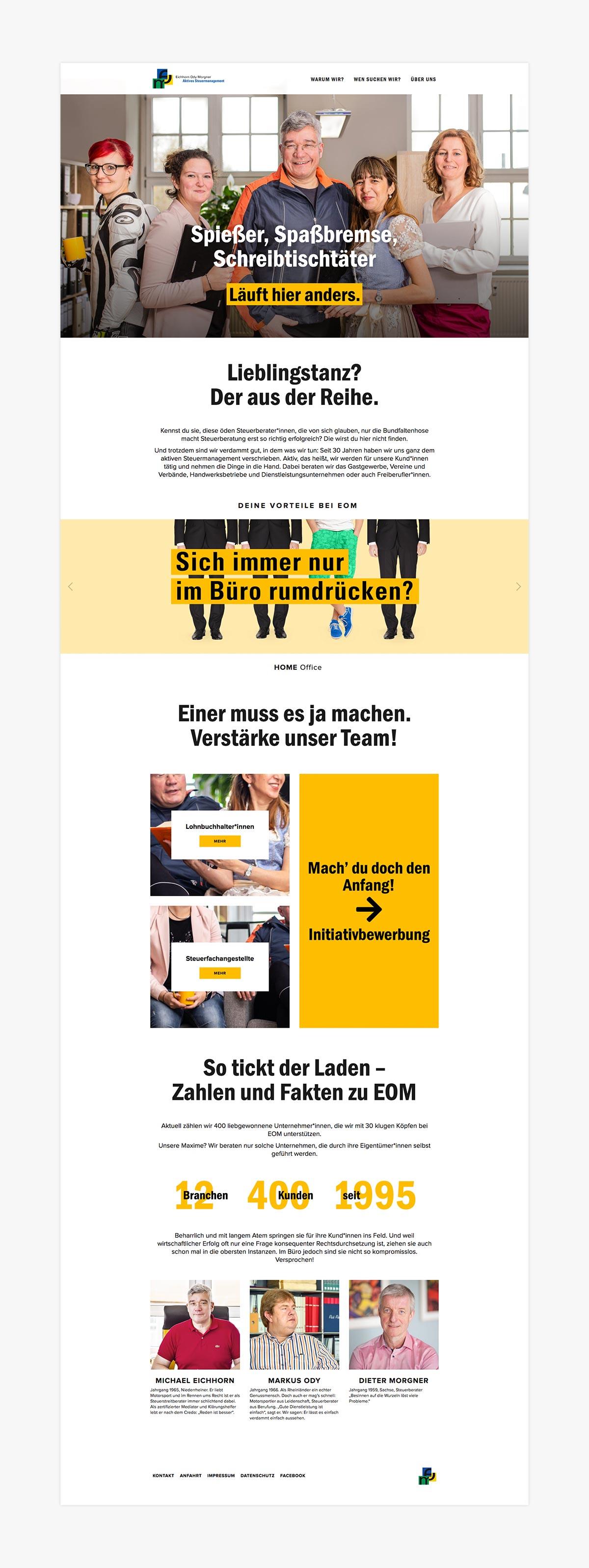Recruiting-Website Steuerberater