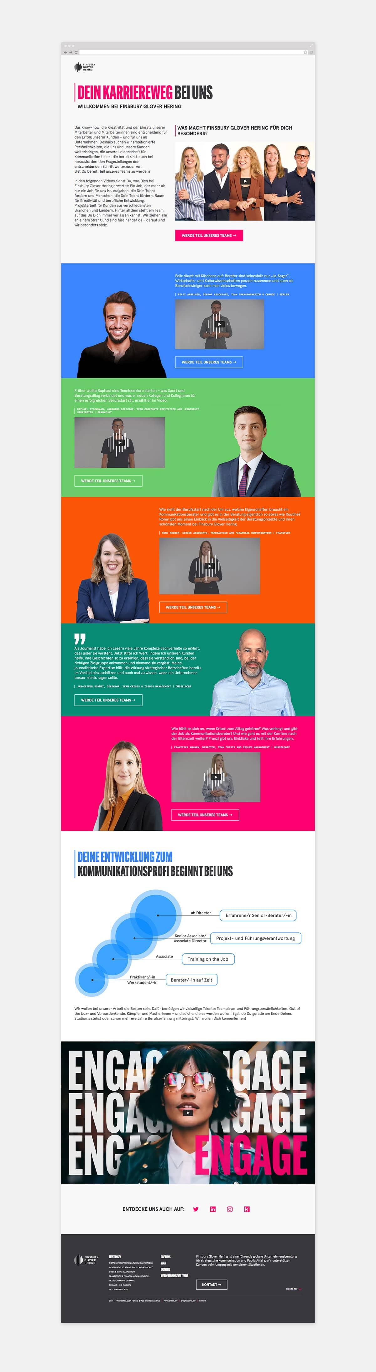 Recruiting-Website Finsbury Glover Hering
