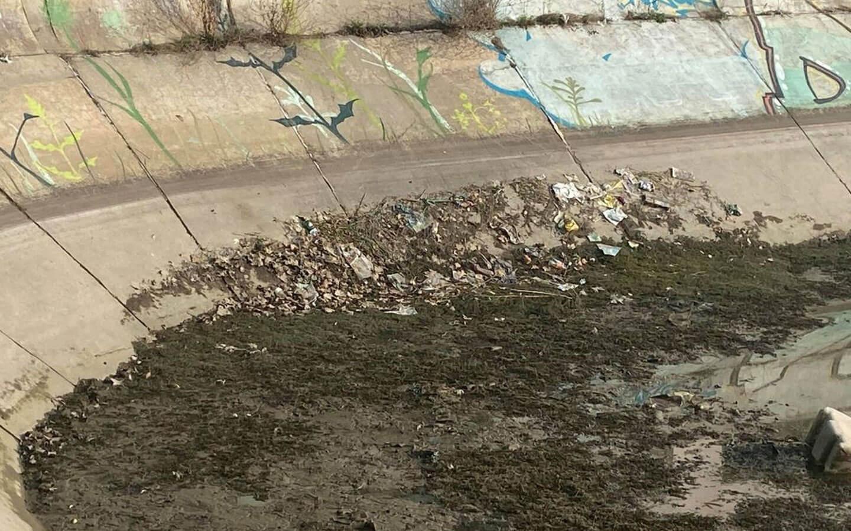 FOTO. Reapar imaginile dezolante cu gunoaiele de pe Dâmbovița, chiar în centrul Capitalei. Ce spun reprezentanții Apelor Române