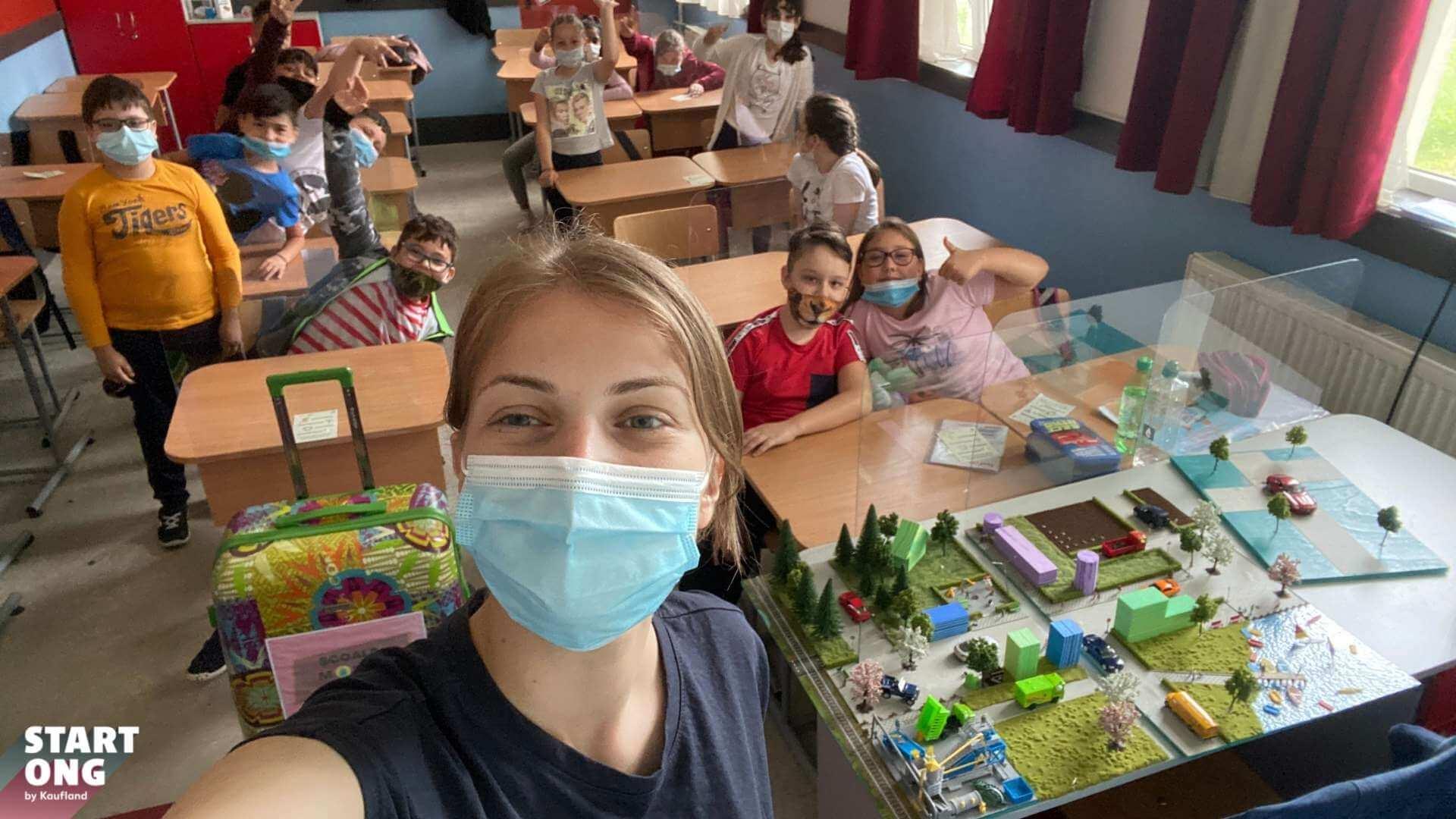 Școala mobilă de mediu a ajuns în Sectorul 3 din Capitală