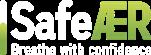 logo safe air blanc