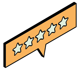 A graphic of a 5 Star review