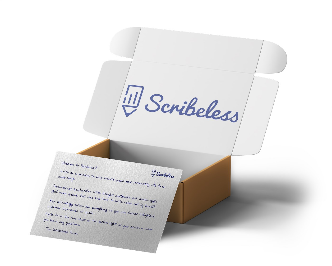 Scribeless box of handwritten notes.