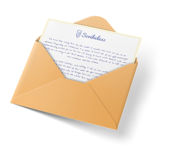 A handwritten note in an envelope