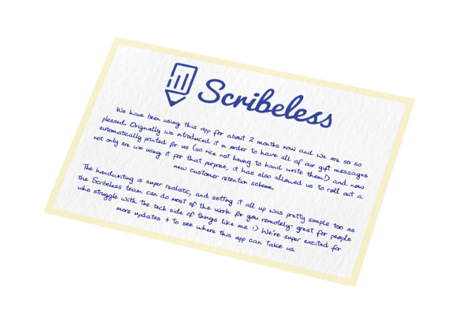 A handwritten note