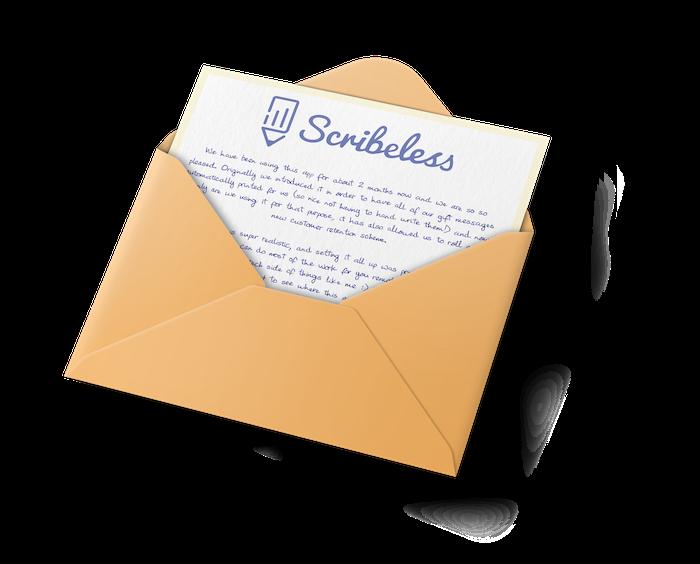 A handwritten note in an envelope