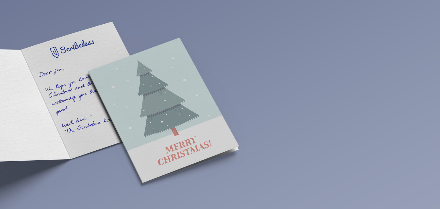 a handwritten christmas or holiday card