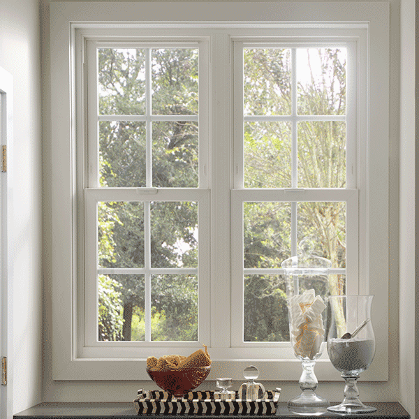 white casement windows with grid