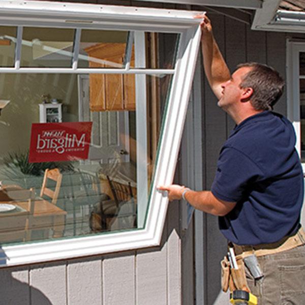 Installing milgard vinyl window