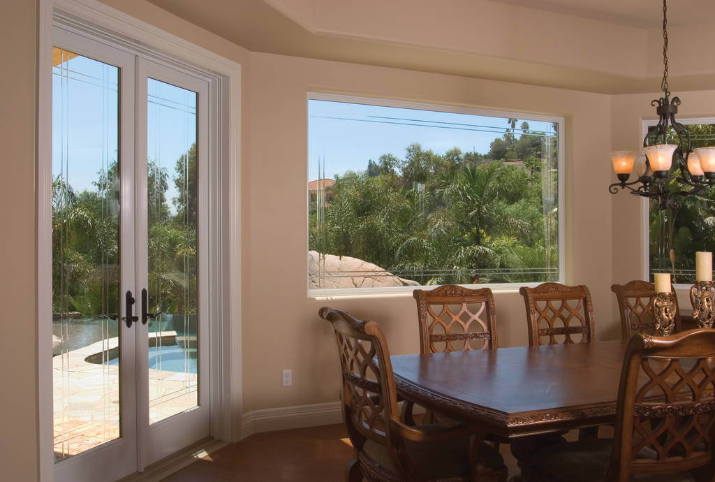 fiberglass windows and doors in white