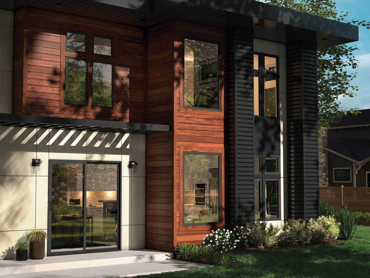 Trinsic windows and doors withh black frame