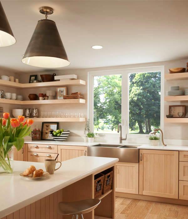 casement windows in the kitchen