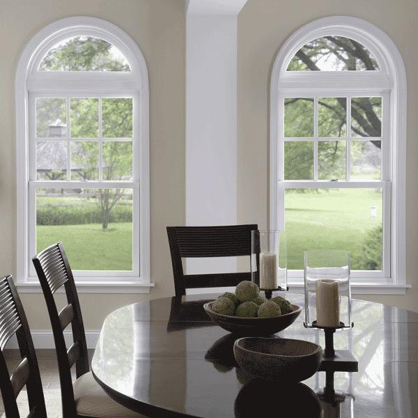 vinyl windows radius style window